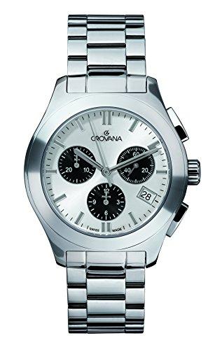 GROVANA - 5096.9132 - Montre Mixte - Quartz - Chronographe - Bracelet Acier Inoxydable Argent