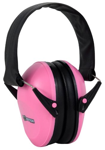 Boomstick Gun Accessories Folding Earmuff Noise Safety Hearing Protection, Pink
