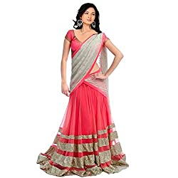 Woman style Design Women's Heavy semi stitched latest pink Colored Lehenga Choli (WS1947_Free Size_Pink)