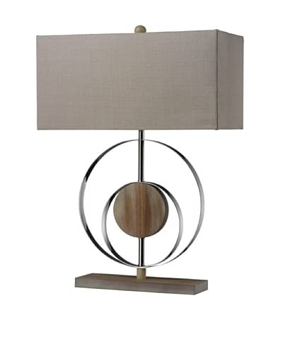 Artistic Lighting Shiprock Washed Wood Table Lamp