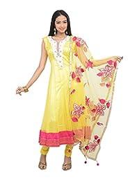 Sareeshut Women's Net Regular Fit Anarkali Suits - B00WQZ35MM