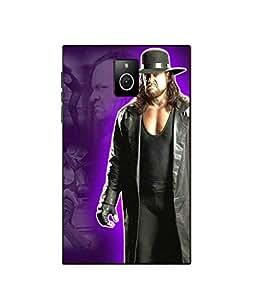 Make My Print Undertaker Printed Black Hard Back Cover For BlackBerry Passport