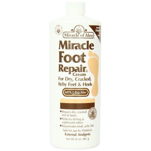 Miracle of Aloe Miracle Foot Repair Cream 32 Oz As Seen On