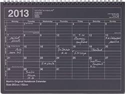 マークス ノートブックカレンダー・S 2013年1月 ブラック 13DR-NB2-BK