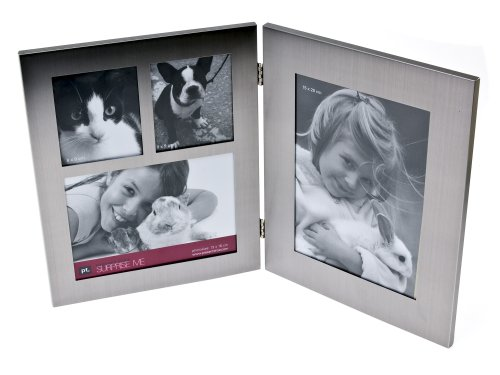 Present Time Photo Frame Passepartout Book Aluminum, Medium