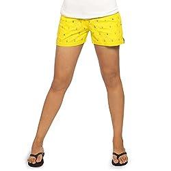 idiotheory Yellow Chaiwalla Women's Shorts (ITWCCWLLSYW02_S)