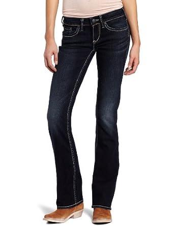 Silver Jeans Juniors Aiko Curvy Bootcut Jean, Dark Blue, 24x31