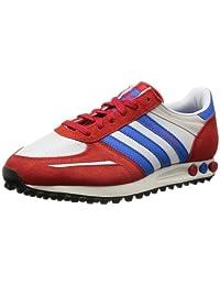 Adidas Men's LA Trainer, WHITE/BLUE/RED