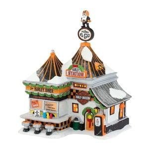 Harley® Pump & Go Diner | Department 56 Lighted Building (4035574)
