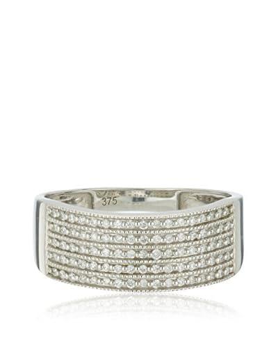 Bentelli Anillo 9K Gold 0.19Ct Diamonds Oro Blanco