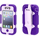 Griffin Purple/Lavender Heavy Duty Survivor All-Terrain Case for iPhone 4/4s