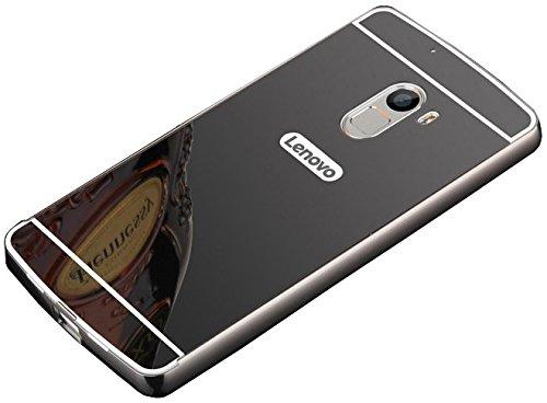 SDO™ Shining Acrylic Mirror Back Cover Case with Bumper Case for Lenovo Vibe K4 Note (Black)