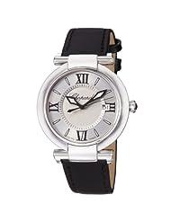 Chopard Imperiale Ladies Silver Dial Black Satin Strap Watch 388532-3001