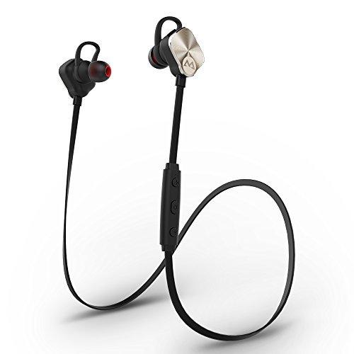 [Bluetooth 4.1, CVC 6.0, AptX, Splashproof] Mpow Magneto Casque Bluetooth écouteurs sans fil Stéréo de Sports Course Oreillette d'Exercice Résistant à l'eau pour iPhone 6 6s 6 Plus, iPhone SE, iPhone 5s 5c 4s 4, Samsung Galaxy S6/S6 Edge S7/S7 Edge S5/S4/S3, Huawei, Wiko et d'autres Appareils Bluetooth