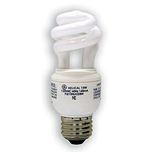 GE Lighting 49906 10 Watt (40 Watt equivalent) Energy Smart Soft White Spiral® T3 Light Bulb