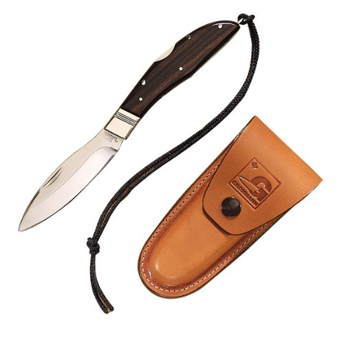 D.H.Russell Folding Lockback, Rosewood Handle, Plain