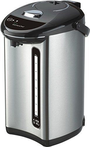 4 Quart Stainless Steel Manual Shabbat Kettle,Electric Hot Pot,Electric Kettle,Hot Water Urn,Hot Water Boiler,Hot Water Heater,Hot Water Dispenser,Coffee Urn,With Special Reboil Feature (Urn Water compare prices)