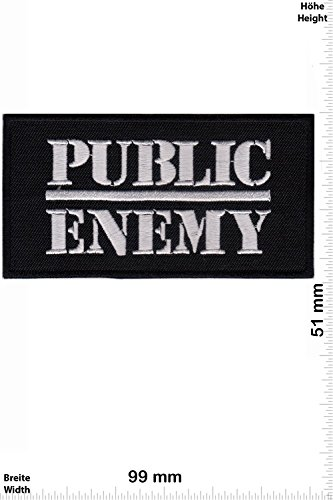 Patch - Public Enemy - silver - Hip-Hop -Music - MusicPatch - Rock - Chaleco - toppa - applicazione - Ricamato termo-adesivo - Give Away