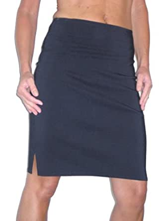 2210 stretch pencil skirt school office navy blue