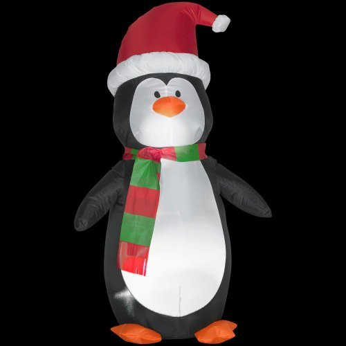 Christmas Decoration Lawn Yard Inflatable Airblown Penguin 4' Tall front-415185
