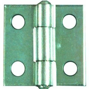 """National Hardware V518 3"""" Non-Removable Pin Hinge In Brass front-780921"""