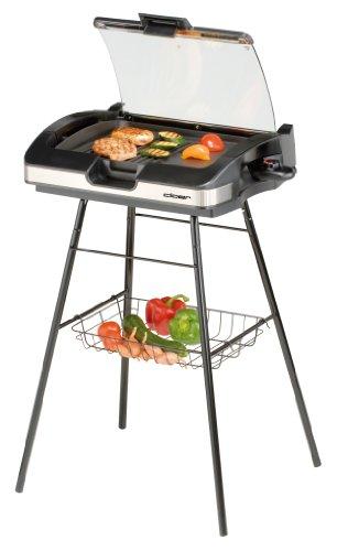 Cloer-6720-Barbecue-Grill-mit-Standfuss-und-Glasplatte