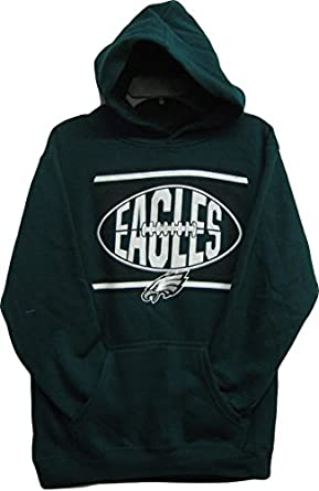Philadelphia Eagles Green NFL Youth Pullover Hooded Sweatshirt -Hoody Medium 10 12 by OuterStuff