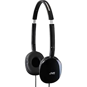 Jvc HAS160B Flats Lightweight Headband Headphones, Black