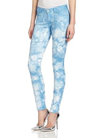Maison Scotch Women's Parisienne Garment Skinny Leg Jean, Tie Dye Blue, 27