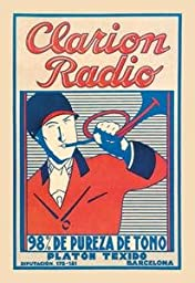 30 x 20 Stretched Canvas Poster Clarion Radio