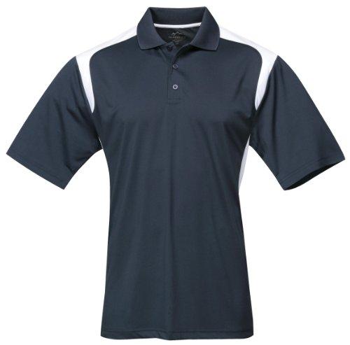 Tri-Mountain Men'S Blitz Wicking Golf Shirt, 4Xlt, Navy/White