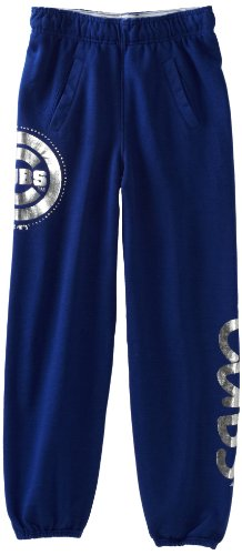 MLB Girls Chicago Cubs Fleece Roll-Over Pant (Western Blue, Medium) at Amazon.com