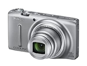 Nikon Coolpix S9400 Camera - Silver (18.1MP, 18xZoom, 25mm Wide Lens) 3.0 inch OLED