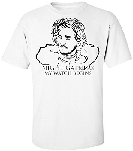 Game of Thrones Jon Snow Night Gathers and My Watch Begins Men's T-Shirt