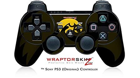 Sony PS3 Controller Skin - Iowa Hawkeyes Herky Gold on Black