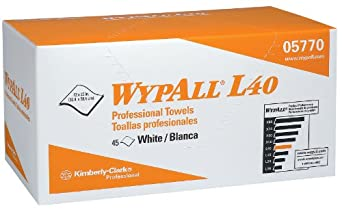 "Kimberly-Clark WypAll 5770 DRC Professional Towels, 12"" Width x 23"" Length x, White (12 Packs of 45)"