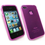 KIT ME OUT UK APPLE IPHONE 4/ IPHONE 4G HD CONTOUR PATTERN GEL/COVER/SKIN HOT PINK gadgets