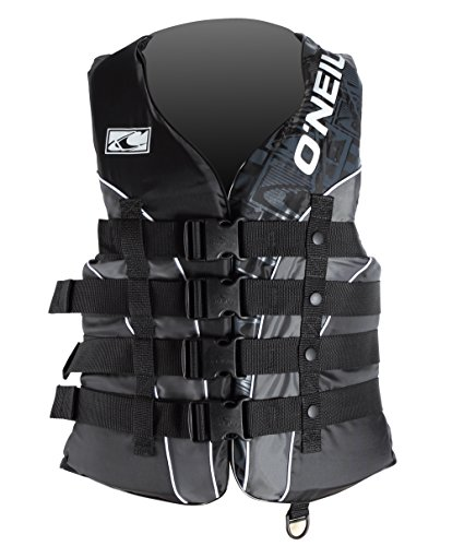 O'Neill Wake Waterski Men's Superlite USCG Vest (Blk/Met/Blk, XXX-Large)