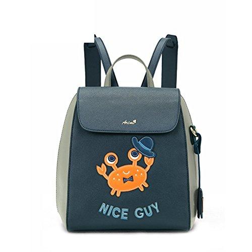 Mme sac à bandoulière/Institut coréen de vent schoolbag/Loisirs sac à dos doux