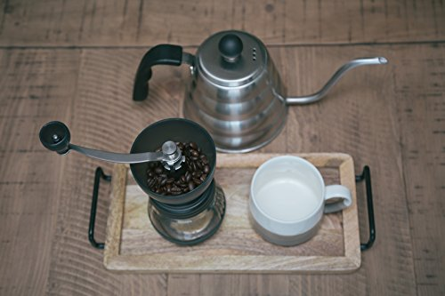 Premium Ceramic Burr Manual Coffee Grinder. Large 100g Capacity Coffee Mill. For Espresso, Pour Over, French Press, and Turkish Coffee Brewing.