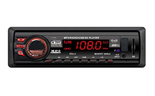 Car-Audio-Verstrker-C-est-in-Dash-Auto-Audio-Bluetooth-Stereo-Head-Unit-16-GB-MP3USBSDAUXFM-Eingang-AUX-Hnde-frei-Bluetooth-integriertes-Mikrofon-8288