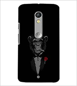 PrintDhaba Chimpanzee D-2348 Back Case Cover for MOTOROLA MOTO X PLAY (Multi-Coloured)