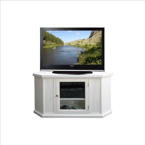 """Leick Furniture 46"""" Corner Tv Stand, White"""