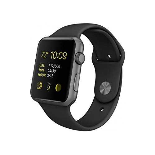 Apple Watch Sport 38mm Space Gray Aluminum Case with Black Band MJ2X2LL/A (Certified Refurbished)