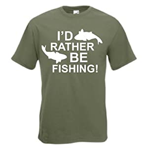 Men's Funny I'd Rather Be Fishing T-Shirt