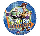 TOY STORY WOODY AND BUZZ HAPPY BIRTHDAY BALLOONS 18 inch mylar
