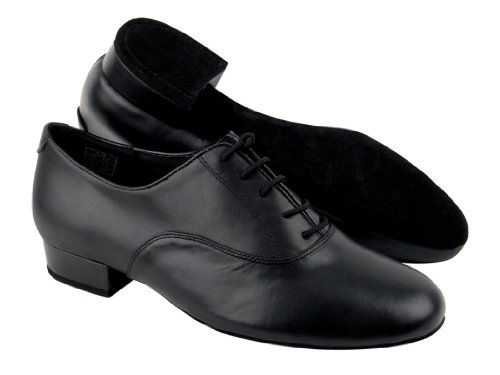 "Very Fine Shoes Men'S Standard & Smooth Competitive Dancer Series Cd1420 Black Leather With 1"" Heel (7)"