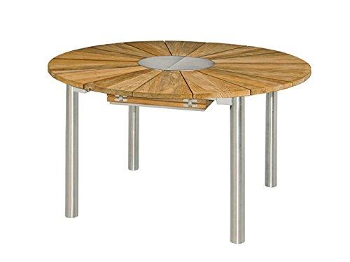 Greenline Catax ausziehbarer Tisch, Teak/Edelstahl