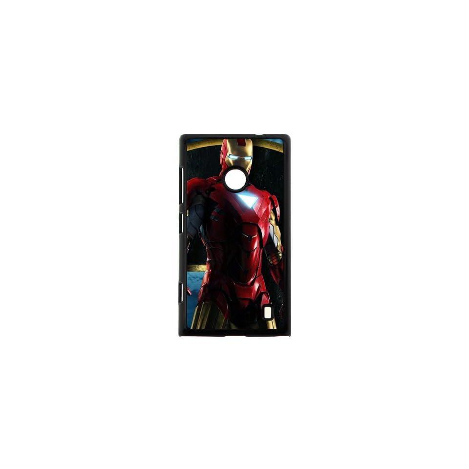Polycarbonate Hard Case Iron Man 3 NOKIA 520 Printing Cover 00157