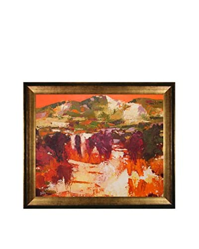 "Alex Bertaina ""Provence Orange"" Framed Canvas Print"